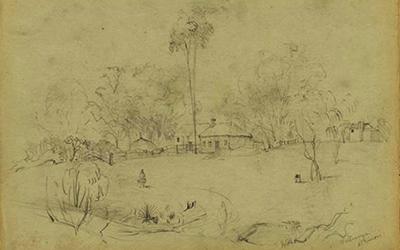At Willunga, Atkinsons, c. 1844 G. F. Angas (NLA)_Malone