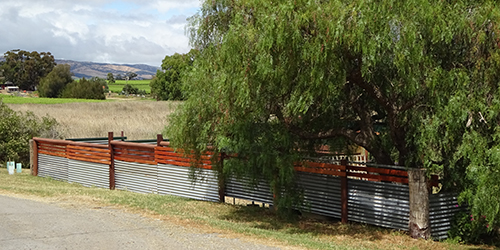 Horse yard fence, Pethick Road, Nov. 2015_Malone