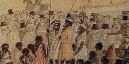 Mullawirraburka, Kadlitpinna and Ityamaiitpinna from Berkeley, 1838 (AGSA)_Malone