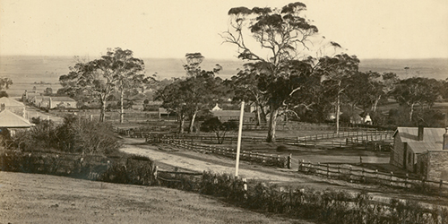 Police Station and Courthouse, Willunga c1872_Malone (SLSA)