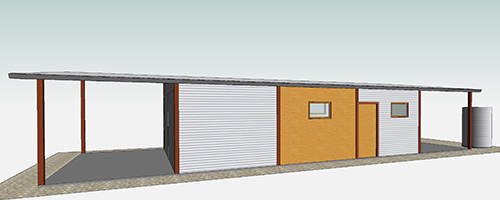 Proposed shed, north (2), Lot 50_Malone
