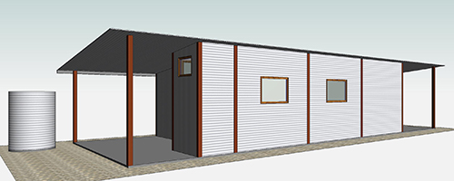Proposed shed, south (2), Lot 50_Malone